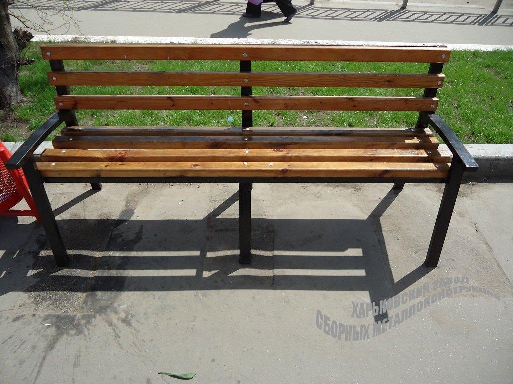 Как сделать скамейку из дерева своими руками из металла 48