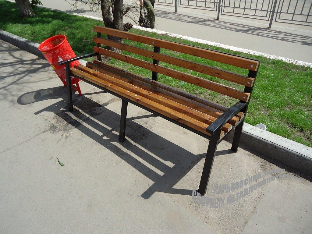 Скамейка с каркасом из металла своими руками 35